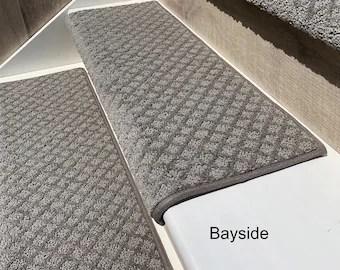 Carpet Stair Treads Etsy | Wedge Shaped Carpet Stair Treads | Beige | Spiral Stairs | Wood | Adhesive Carpet | Flooring