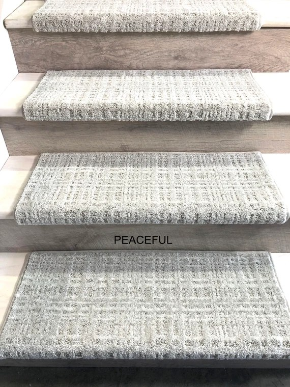 Padded Carpet Stair Treads Crossroads Peaceful Etsy
