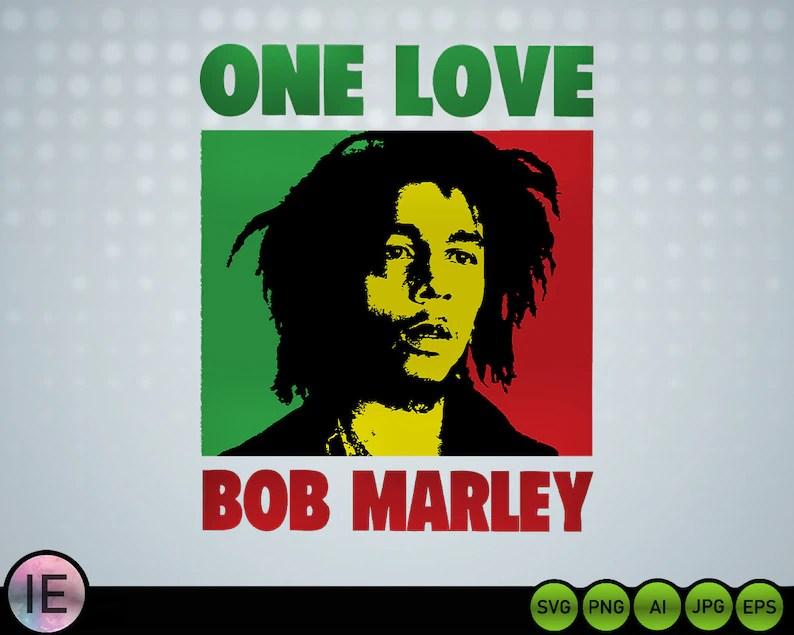 Download Bob Marley Svg One Love / Bob Marley Svg / One Love Svg | Etsy