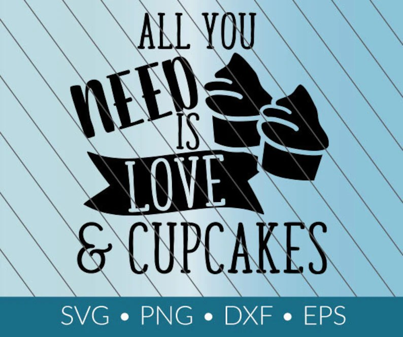 Download Love and Cupcakes SVG download png eps dxf cricut ...