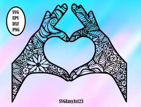 Download Love svg Love Mandala Svg Love Zentangle SVG Mandala svg ...