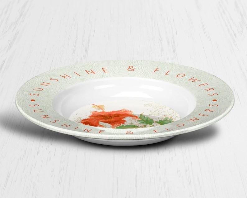 unbreakable tropical outdoor tableware
