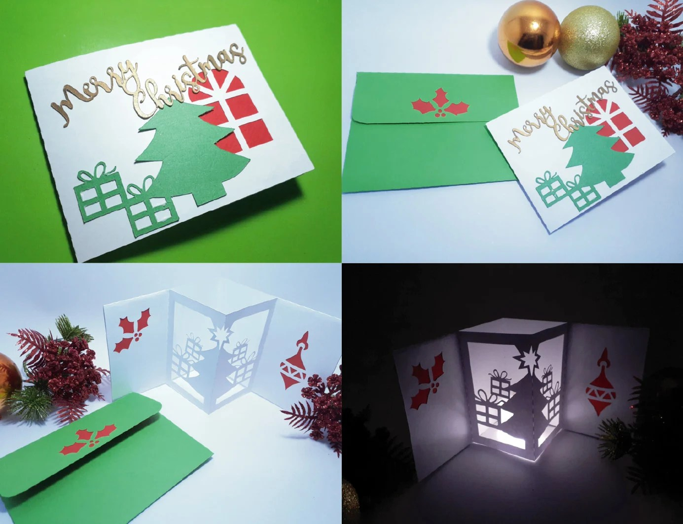 One reviewer says, absolutely beautiful files. Svg Pop Up Christmas Card Template 3d Paper Lanter Tealight Etsy