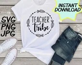 Teacher Tribe SVG, cut file, PNG, jpeg, Teacher shirts, Gifts for teachers, cricut, silhouette, Instant download, teacher quote, digital