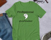 Ghost Stalker Unisex Short Sleeve Jersey T-Shirt with Tear Away Label