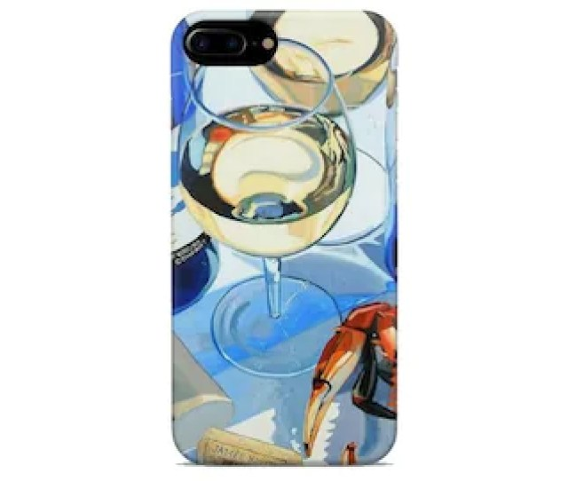 Wine Iphone Case X Xr Xs Max 8  6s 5 5s Se S Ten 10 Cover For Mobile Plastic Silicone Art Gift Wine Art Lobster White
