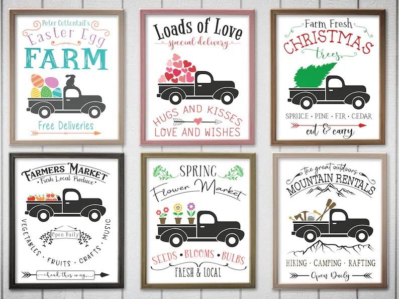 Download Holiday Trucks Bundle. Easter Egg Farm svg. Loads of Love ...