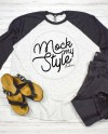 Next Level 6051 Unisex Shirt Mock Up Black White Raglan Mock Etsy