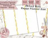 Printable Skinny Mini Blank Lemon Zest Half Sheets for Mini Happy Planner - Print Double-Sided - PDF Printer Ready for your Planner!