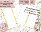 Printable Lemon Zest Half Sheets for the Classic Size Happy Planner - Print Double Sided - PDF Printer Ready for your Planner!