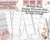 Printable 'Skinny Mini' Dashboard Layout for Happy Planner - Print Double Sided - Perfectly Sized and PDF Printer Ready for your Planner!
