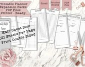 Printable Budget Workbook Skinny Half Sheets for the Classic Size Happy Planner - Print Double Sided - PDF Printer Ready for your Planner!