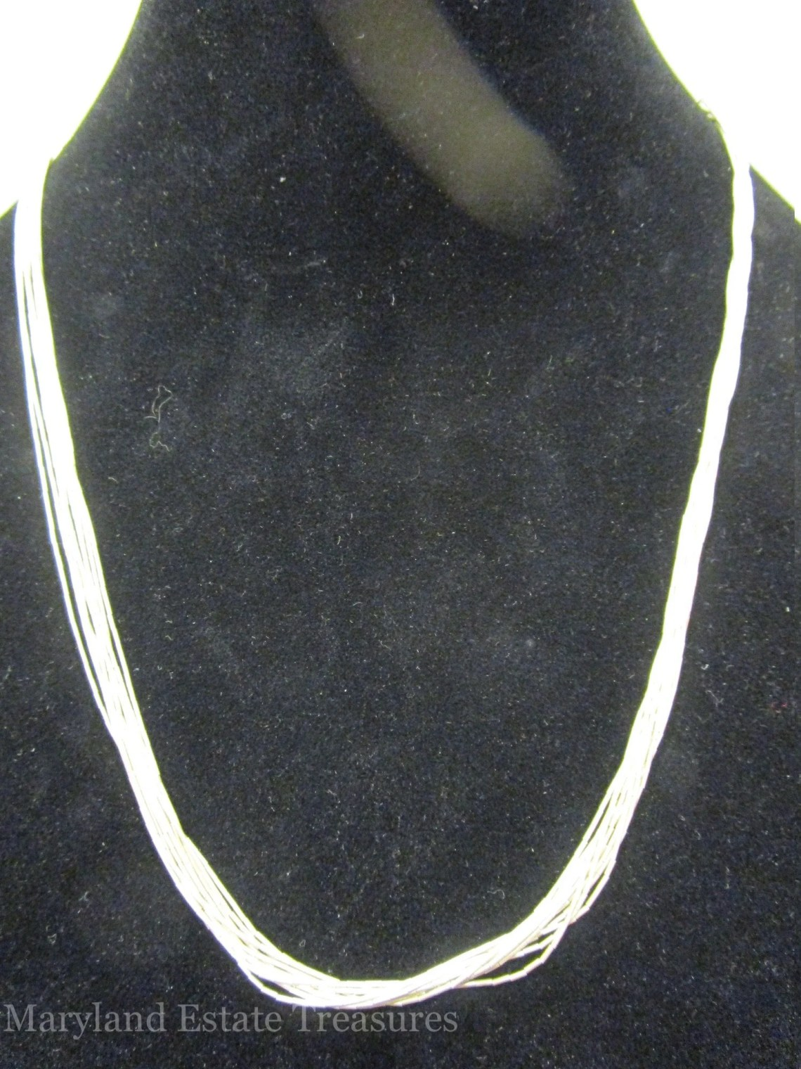 "Multi Strand Sterling Silver Necklace - 20"" - 24"""