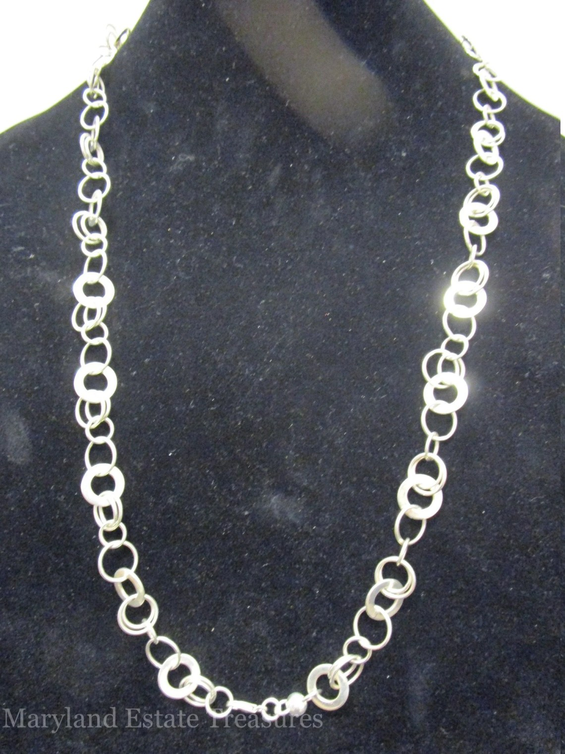 Sterling Circle Link Necklace
