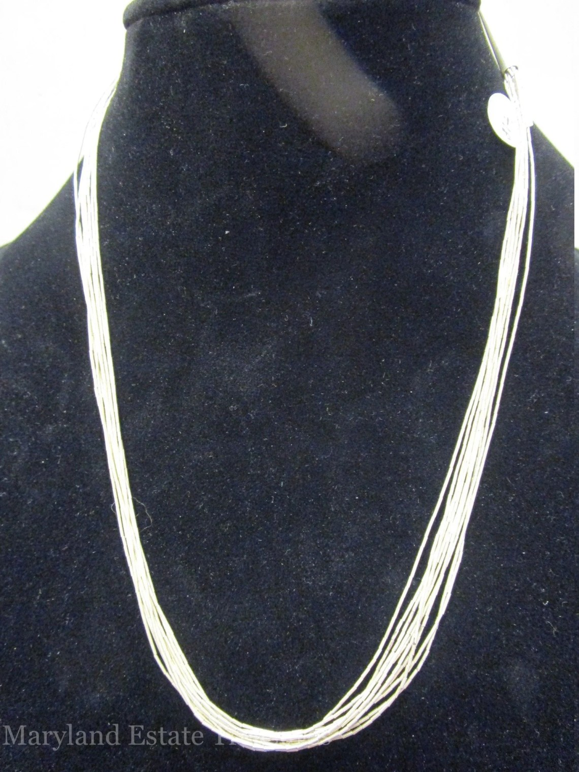 "Multi Strand Sterling Silver Necklace - 18"" - 22"""