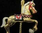 Vintage Carousel Horse Necklace