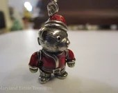 Articulated Sterling Silver Teddy Bear Charm