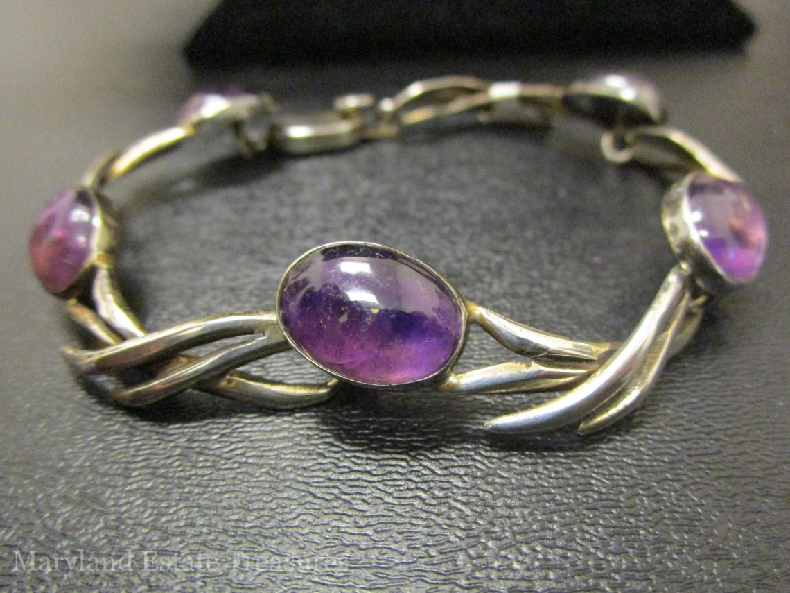 Tilo Mexico Sterling and Amethyst Bracelet