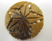 Vintage Wooden Brooch