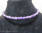 Sterling and Amethyst Memory Wire Necklace