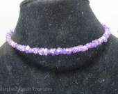 Amethyst Memory Wire Necklace