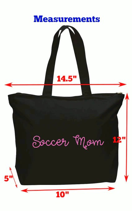 Personalized Zippered Tote  Strong canvas tote bag perfect image 1