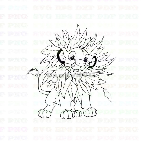 simba coloring page # 19
