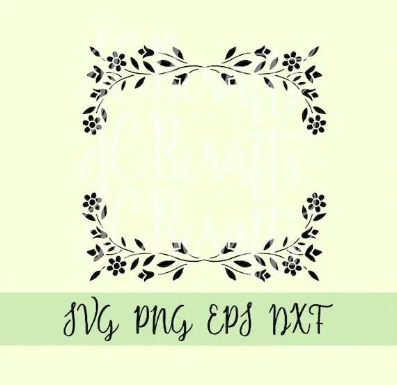 Download Flower floral leaf fancy border svg file printable design ...