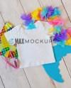 Kids Shirt Mockup Blank White T Shirt Flatlay Product Etsy