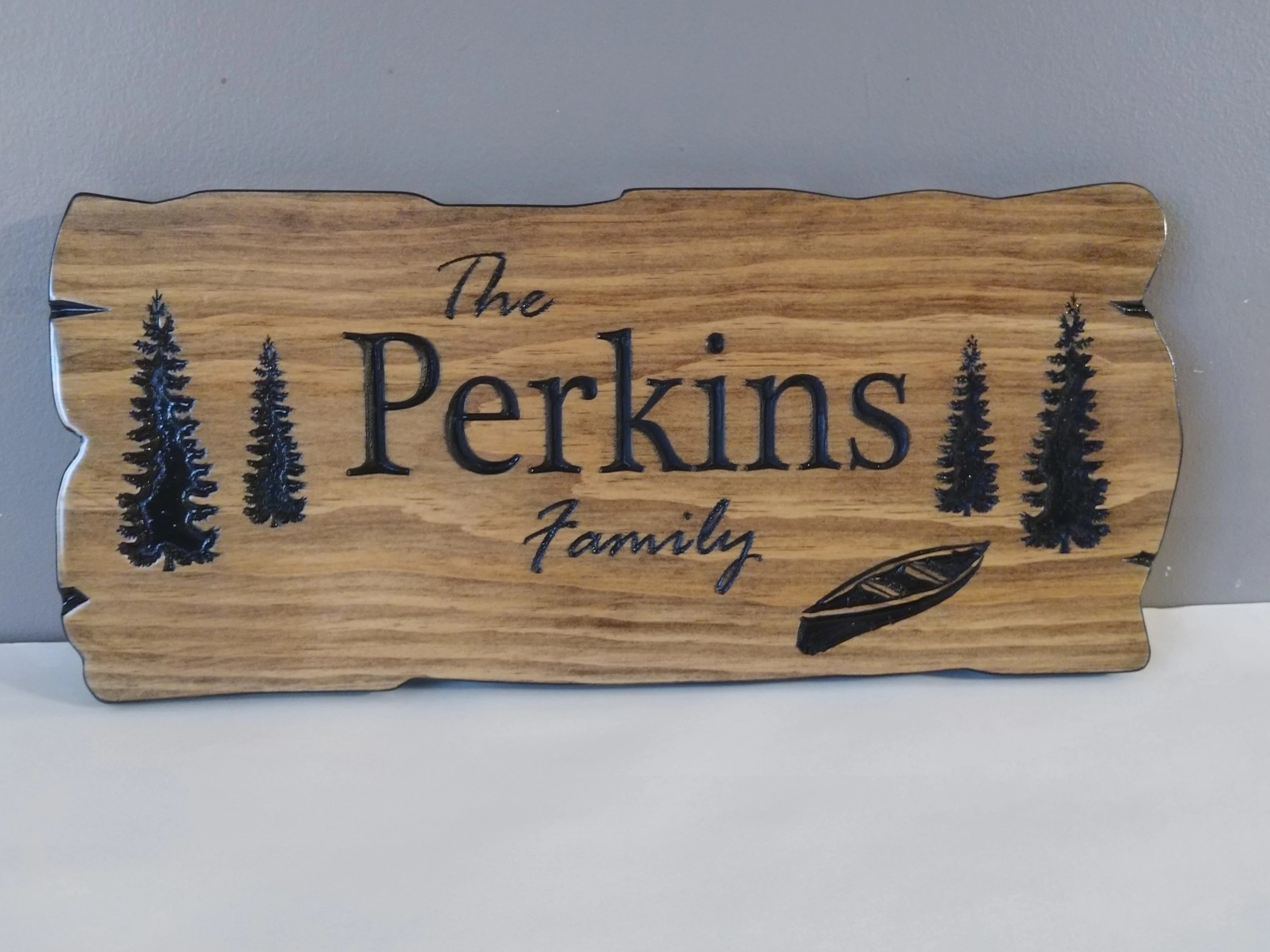 Personalized outdoor carved signs  camp signs cottage sign image 1