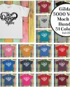 Gildan 5000 Youth T Shirt Mockup Bundle 51 Colours Gildan Etsy