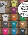 Gildan Heavy T Shirt Mockup Bundle All 70 Colours Gildan 5000 Etsy