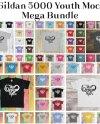 255 Gildan 5000 Youth T Shirt Mockups Mega Bundle 51 Colours Etsy