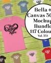 Bella Canvas 3001 Mockup T Shirt Bundle 117 Colors Bella Etsy