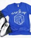Bella Canvas 3001 True Royal Shirt Mock Up Mens Shirt Mockup Etsy