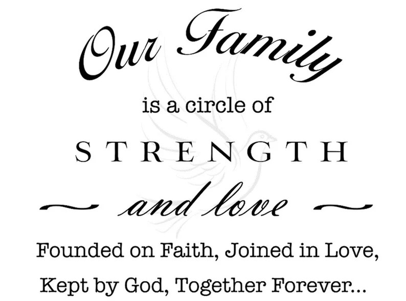 Download Our Family is a Circle of Strength and Love SVG and PNG ...