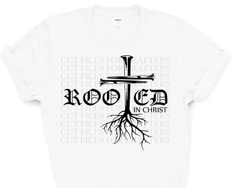 Download Rooted In Christ Svg John 3:16 Svg For God So Loved The | Etsy