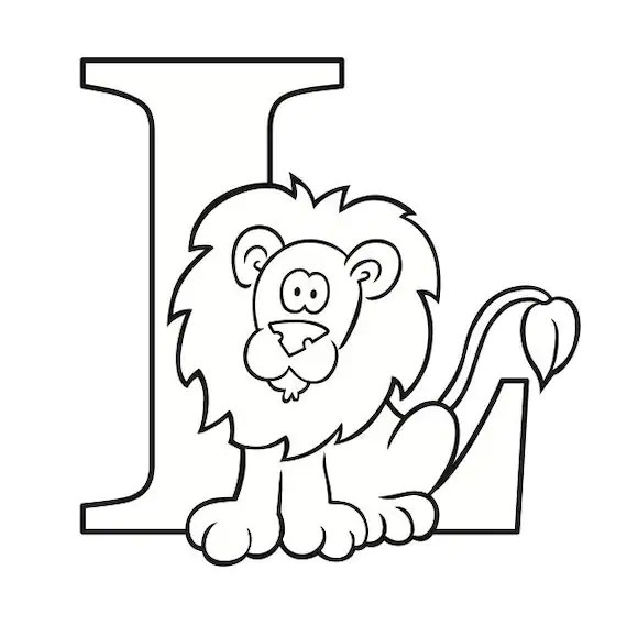 Letter L Coloring Page Etsy
