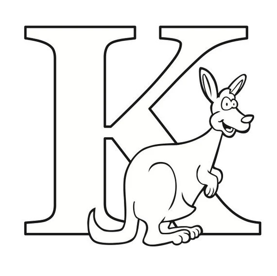 Letter K Coloring Page Etsy