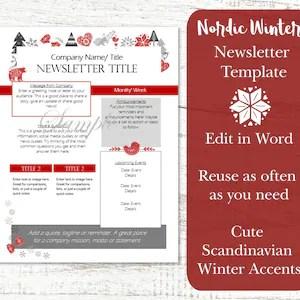 The above offered design template is special. Hoa Newsletter Neighborhood Newsletter Editable Newsletter Etsy