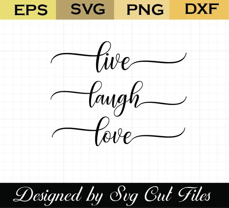 Download Live laugh love Simply SVG Home Sign Svg Rustic Sign   Etsy