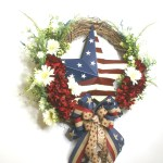 Wreaths Garlands Plants Grapevine Wreath Star With Metal Star Flag Fourth Of July Memorial Day Hanging Home Garden Entsrilanka Org