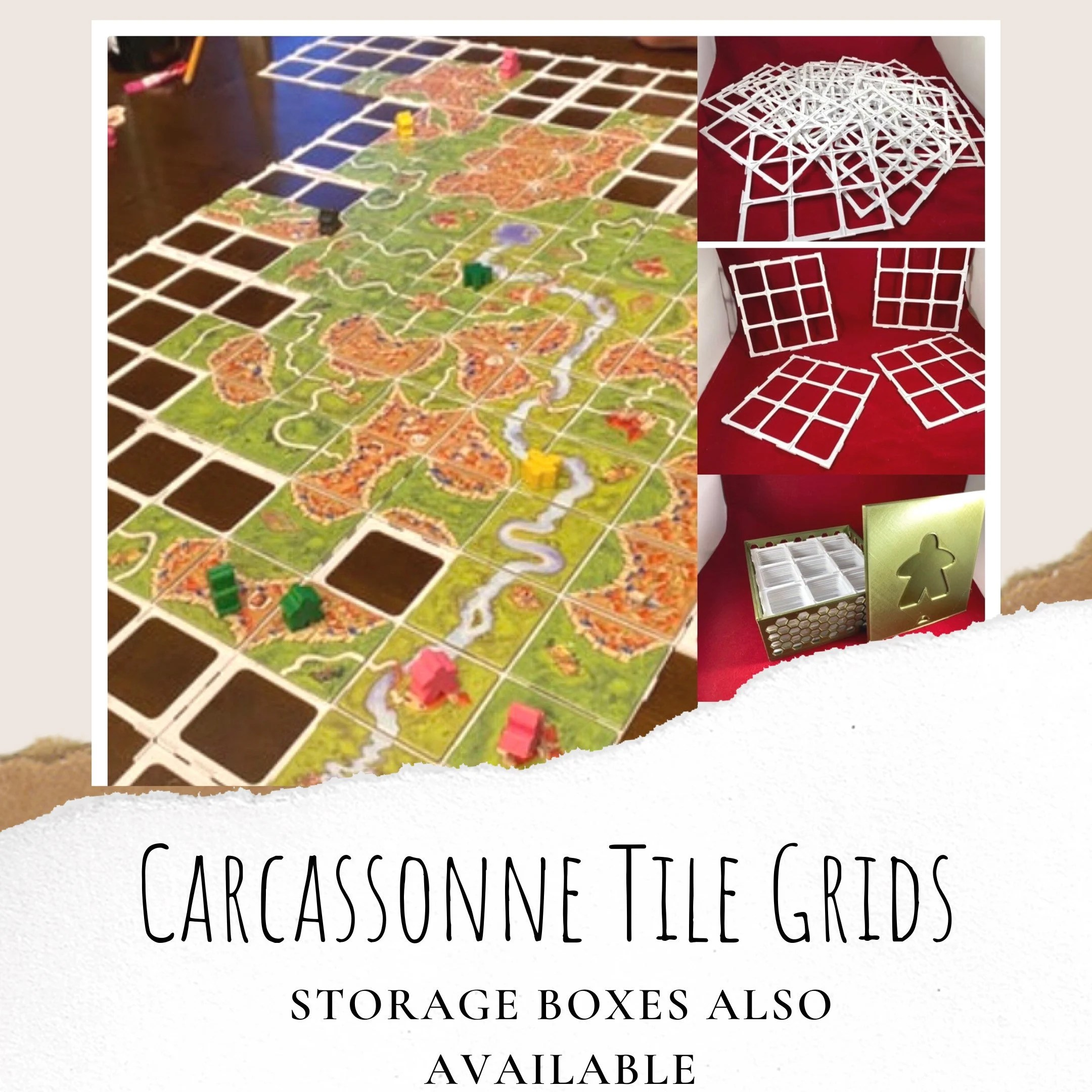 carcassonne board game tile grids carcassonne game upgrade carcassonne game tiles board game upgrade board game enhancement game pieces
