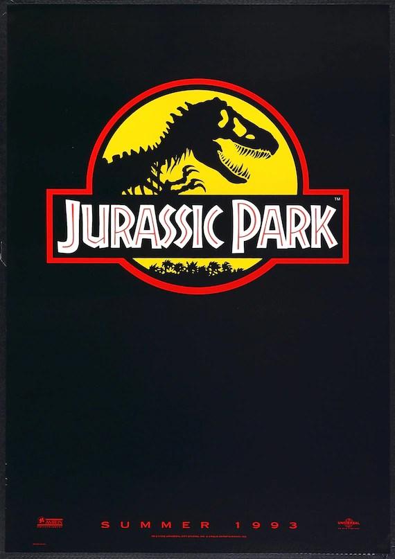 jurassic park logo movie poster