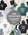 Hoodie Mock Up Gildan 18500 Sweaters 25 Mockups Hooded Etsy
