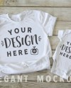 Mommy Me White Outfit Mockup Mock Up Onesies Baby Boy Girl Etsy