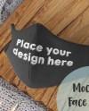 Psd Mockup Black Face Mask Fully Editable Mask Smart Object Etsy