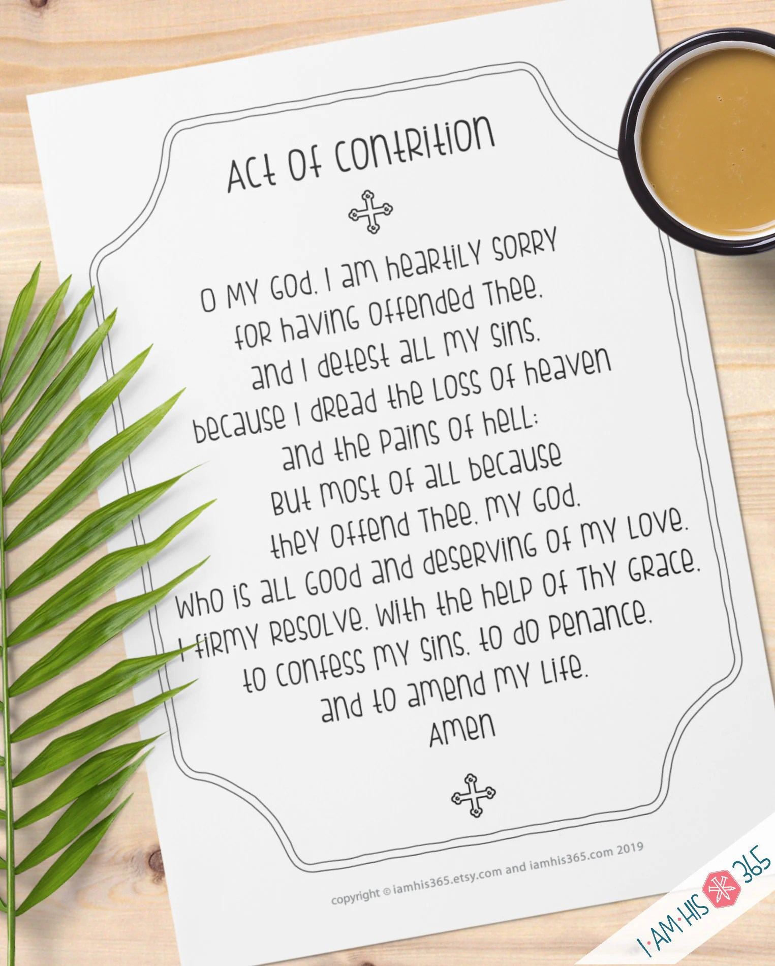Act Of Contrition Prayer Print