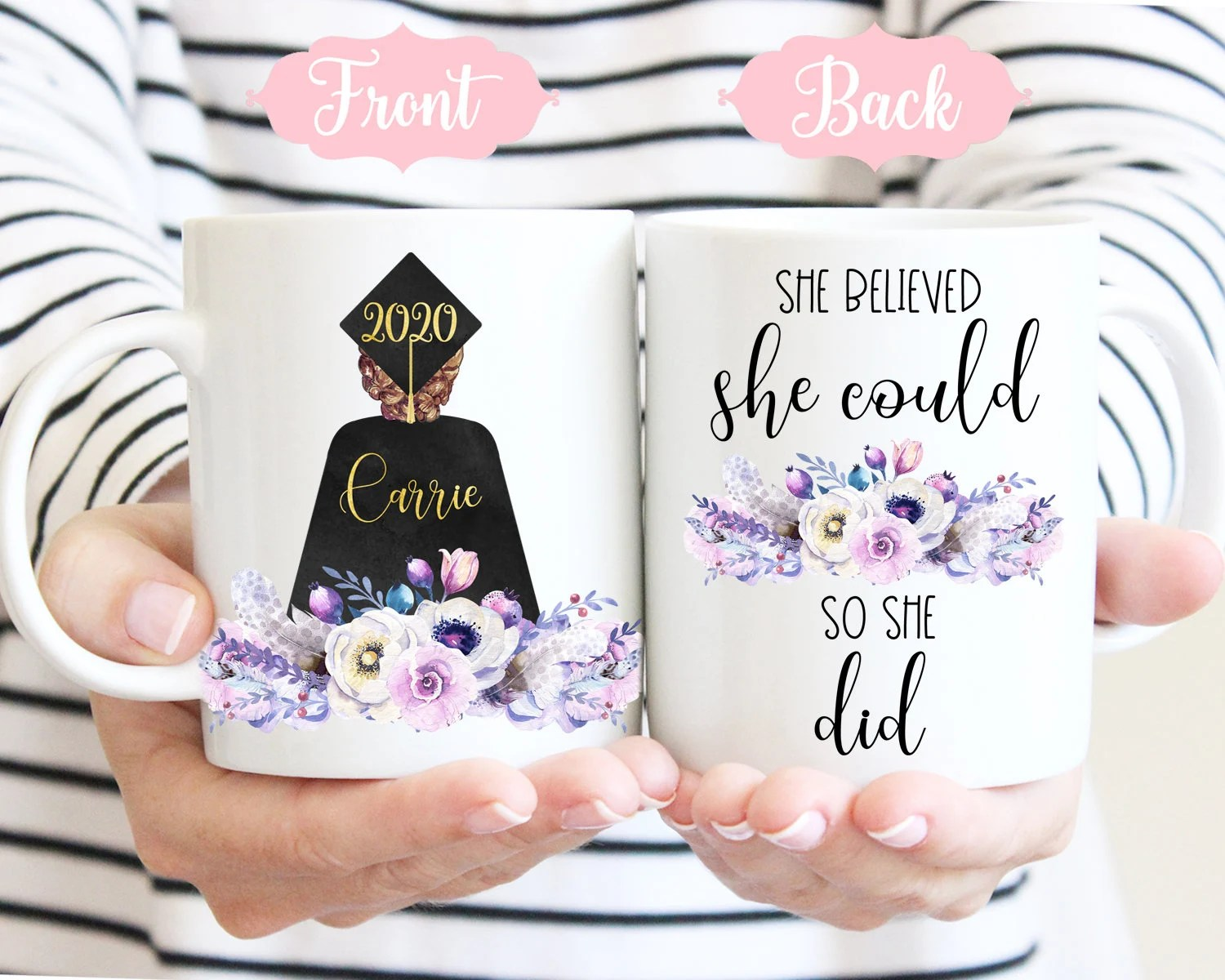 Graduation Gift Personalized For Her She Believed She Could image 1