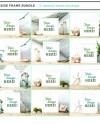 Seaside Frame Mockup Bundle Digital Mockup Set Of Mockups Etsy